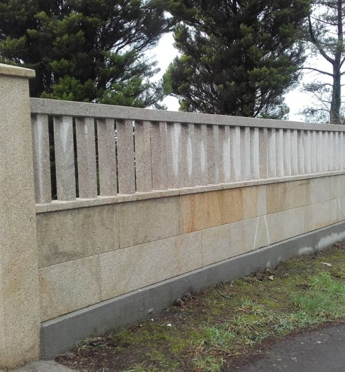 Muro piedra trabajos