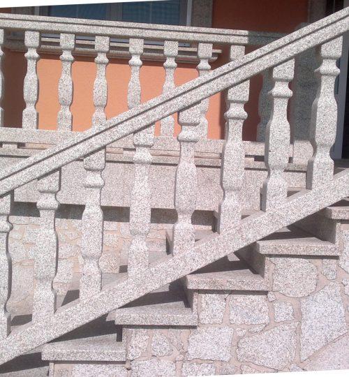 Escaleras piedra recta trabajos