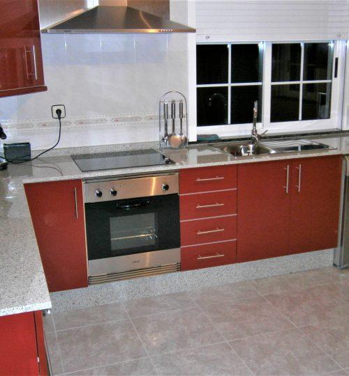 Cocina roja trabajos